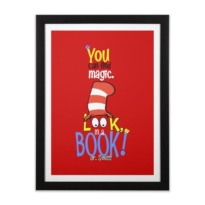 Look in a BOOK Home Framed Fine Art Print by PickaCS's Artist Shop