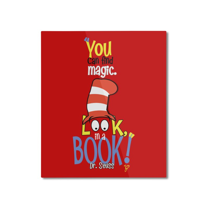 Look in a BOOK Home Mounted Aluminum Print by PickaCS's Artist Shop