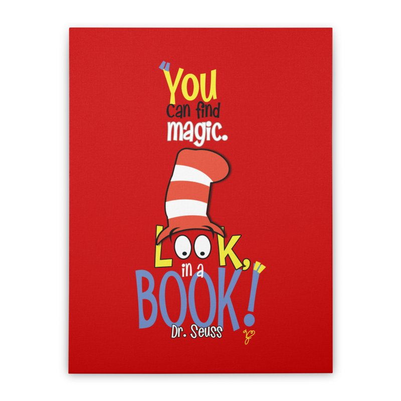 Look in a BOOK Home Stretched Canvas by PickaCS's Artist Shop