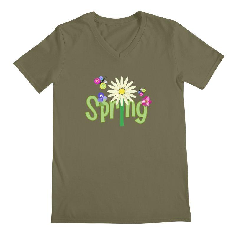 Spring Men's Regular V-Neck by PickaCS's Artist Shop