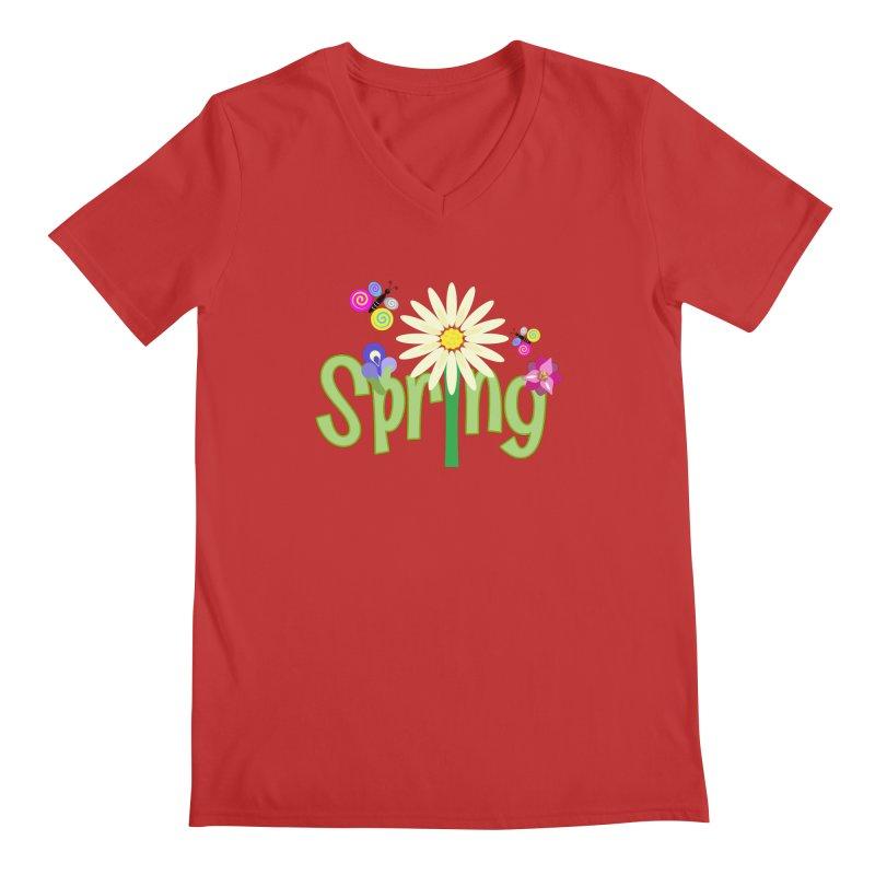 Spring Men's V-Neck by PickaCS's Artist Shop