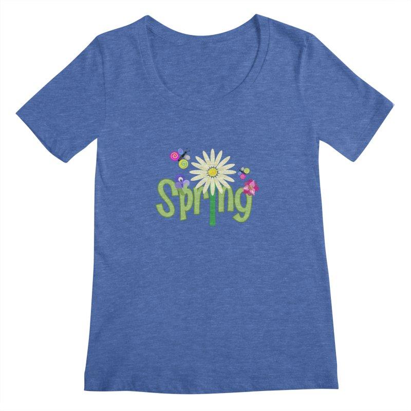 Spring Women's Scoopneck by PickaCS's Artist Shop