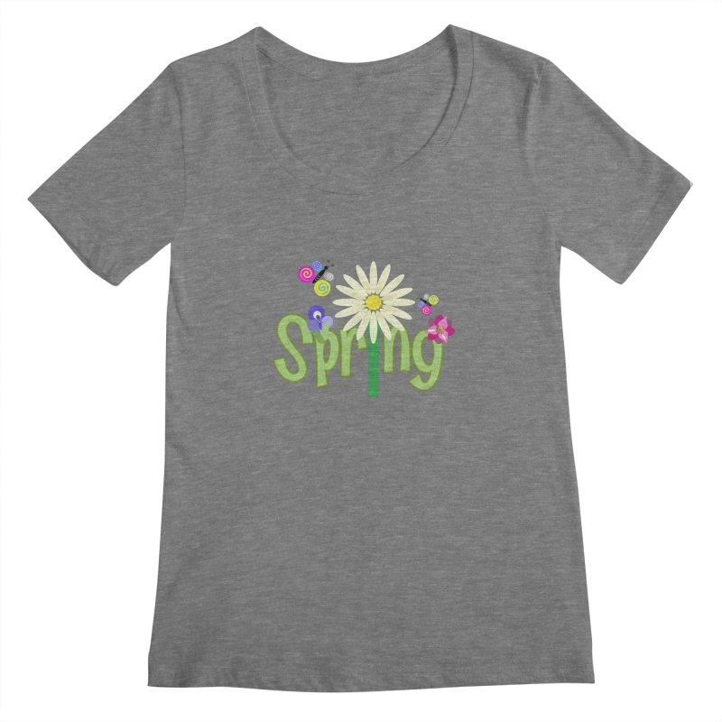 Spring Women's Regular Scoop Neck by PickaCS's Artist Shop