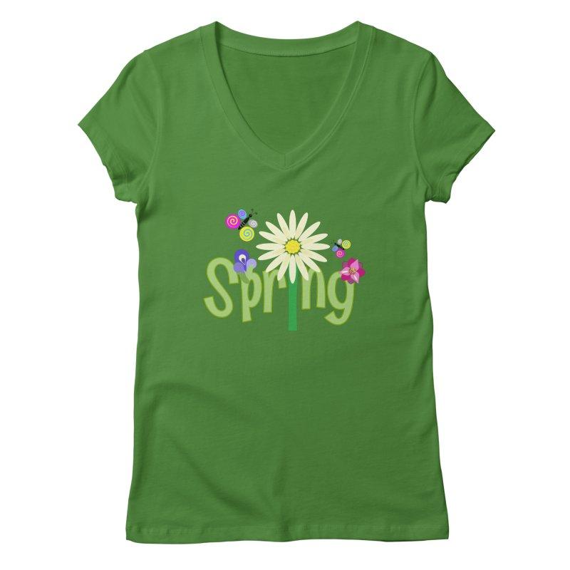 Spring Women's Regular V-Neck by PickaCS's Artist Shop