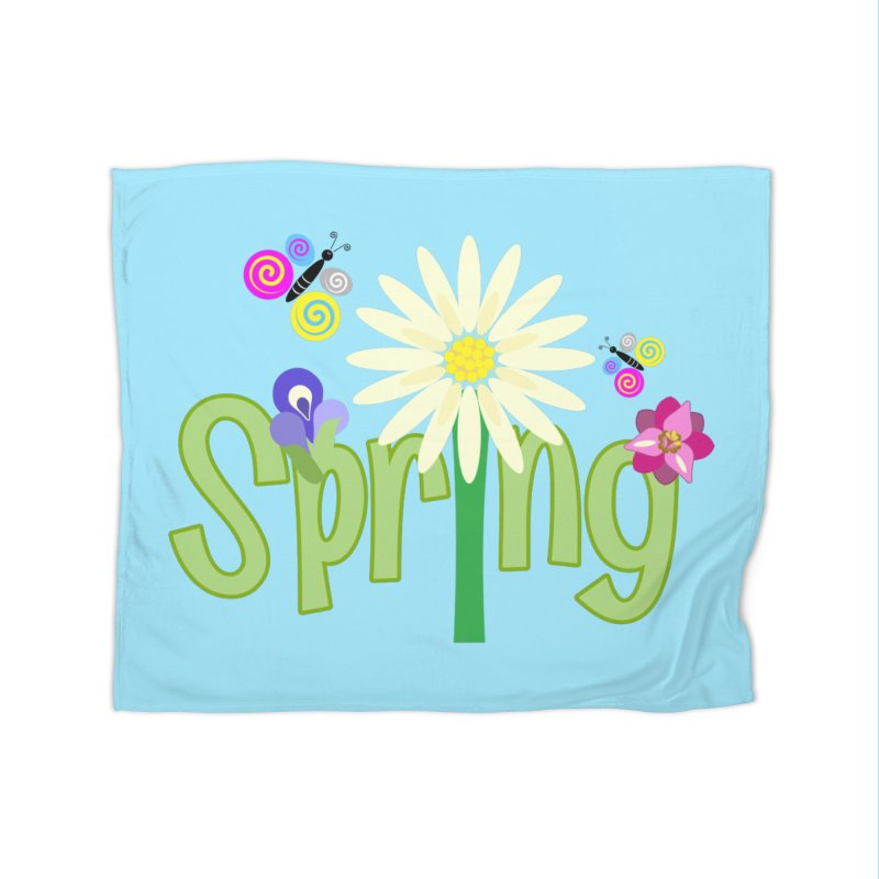 Spring Home Fleece Blanket Blanket by PickaCS's Artist Shop