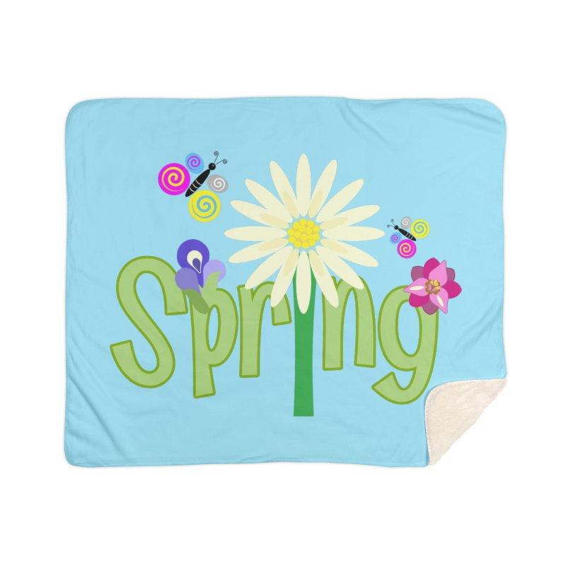 Spring Home Sherpa Blanket Blanket by PickaCS's Artist Shop