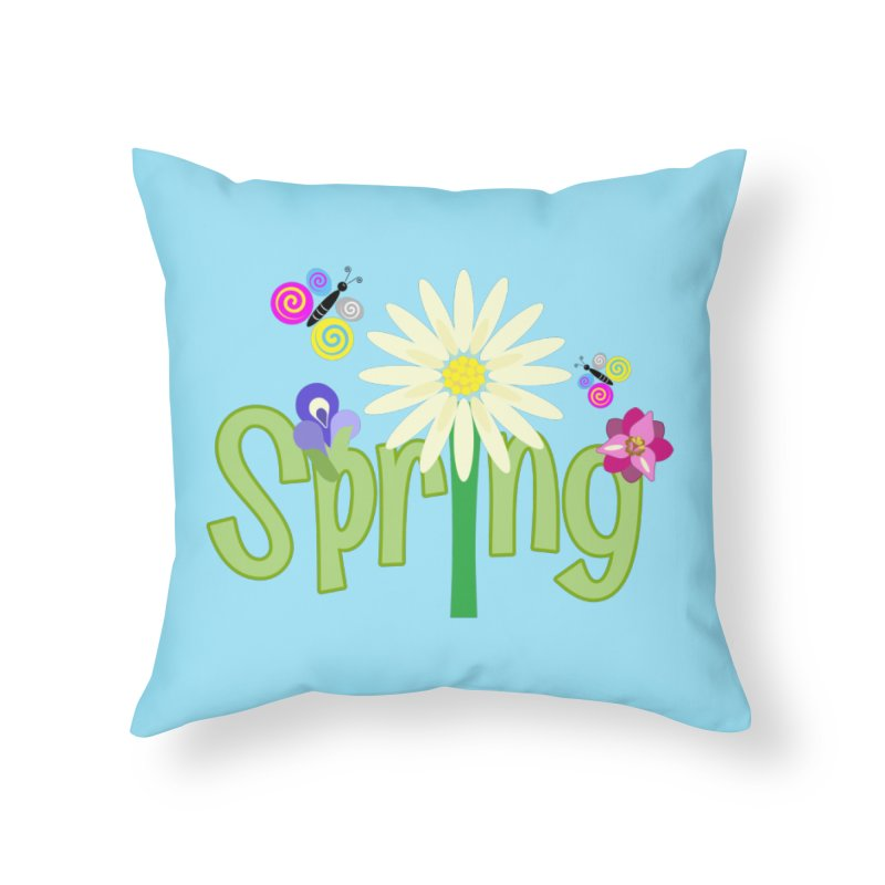 Spring Home Throw Pillow by PickaCS's Artist Shop