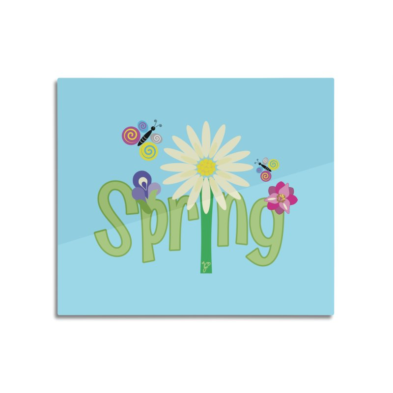 Spring Home Mounted Aluminum Print by PickaCS's Artist Shop