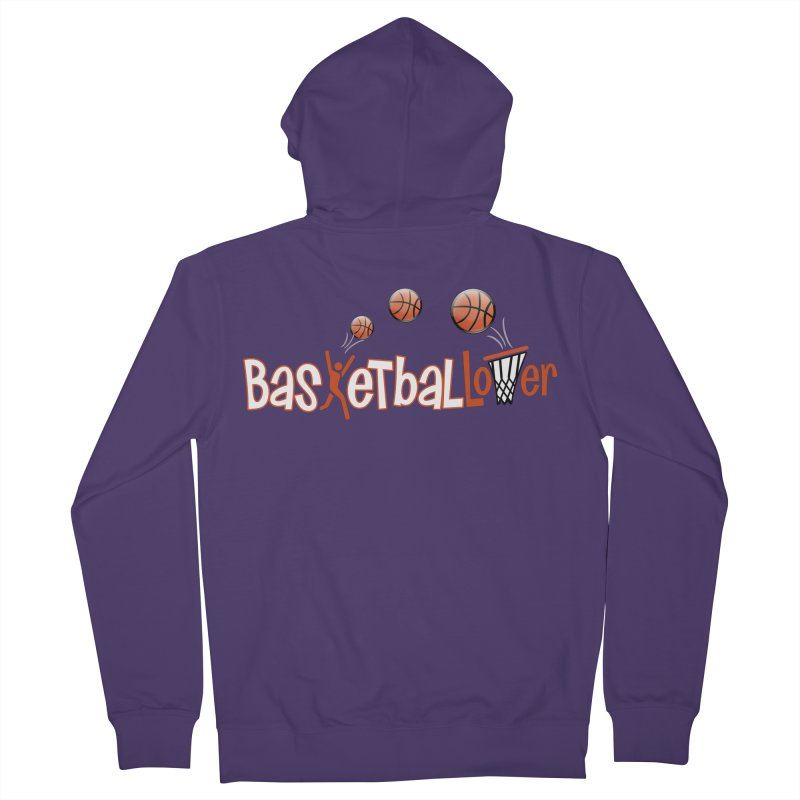 Basketball Lover Women's French Terry Zip-Up Hoody by PickaCS's Artist Shop