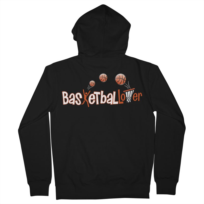 Basketball Lover Men's French Terry Zip-Up Hoody by PickaCS's Artist Shop