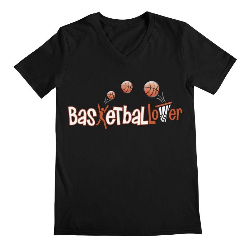 Basketball Lover Men's Regular V-Neck by PickaCS's Artist Shop