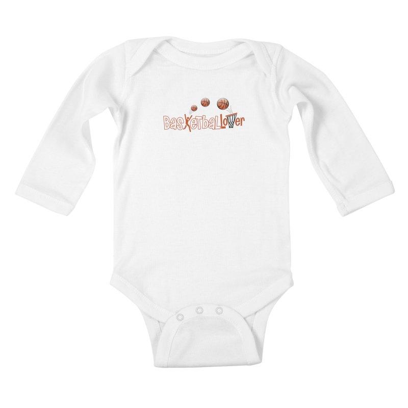 Basketball Lover Kids Baby Longsleeve Bodysuit by PickaCS's Artist Shop