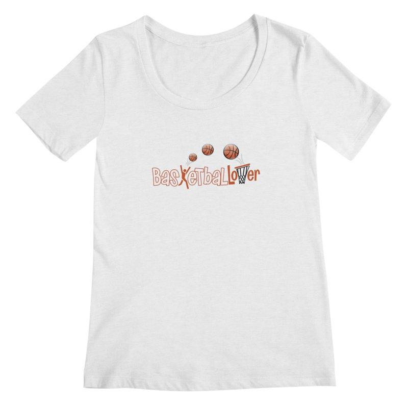 Basketball Lover Women's Regular Scoop Neck by PickaCS's Artist Shop