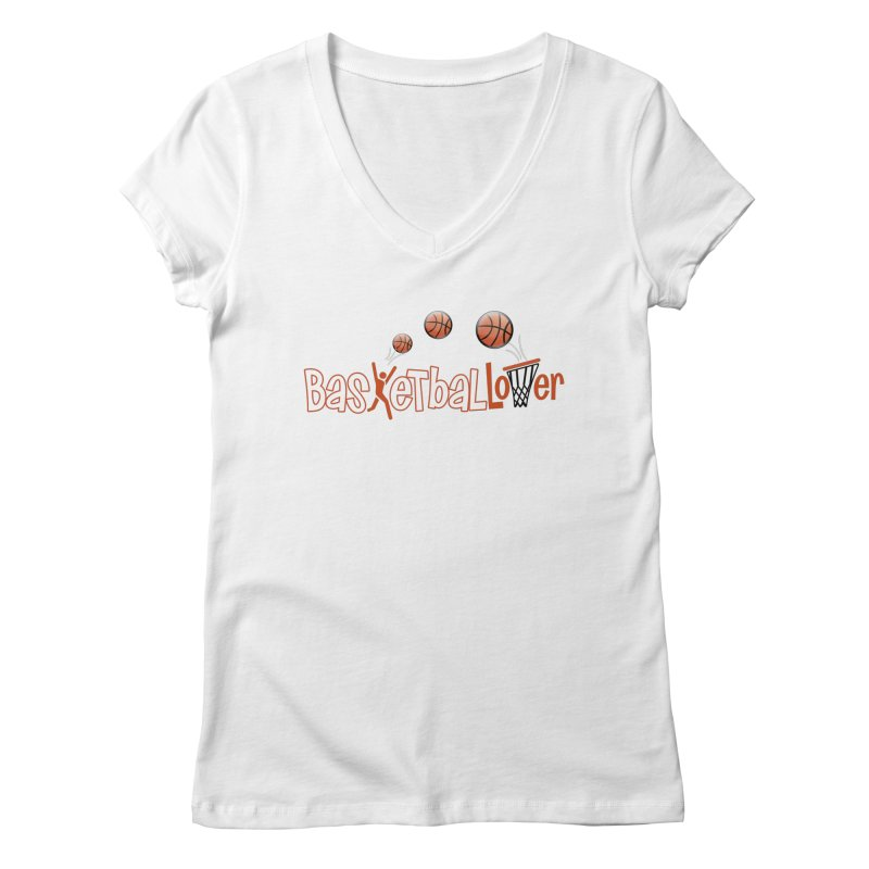 Basketball Lover Women's Regular V-Neck by PickaCS's Artist Shop