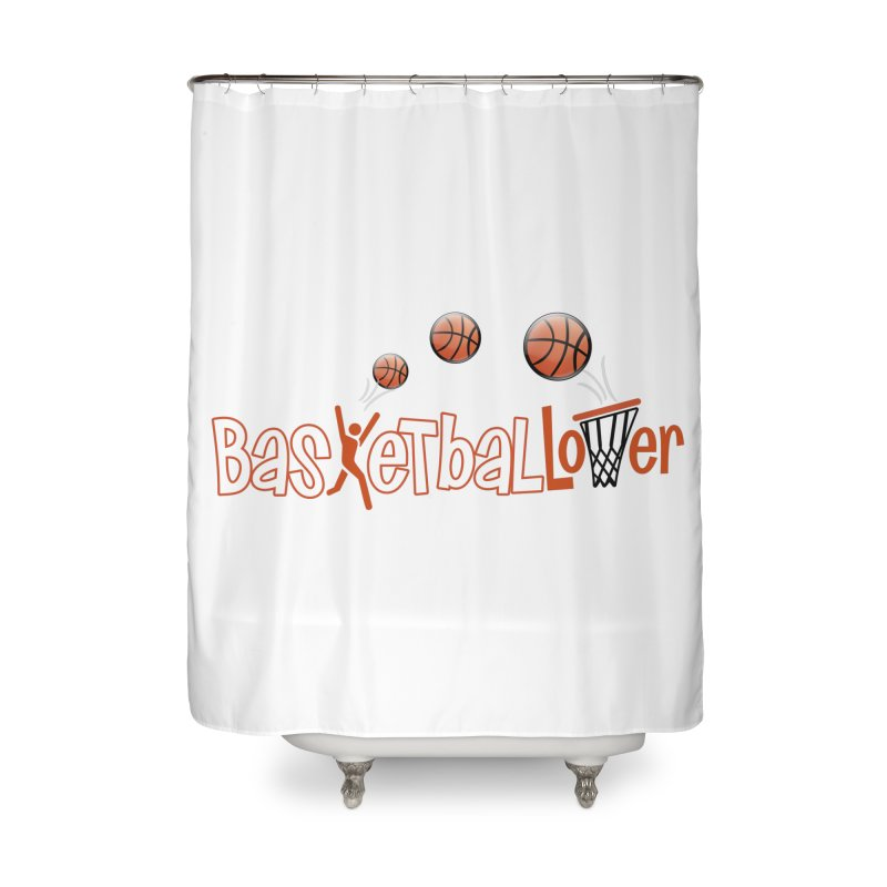 Basketball Lover Home Shower Curtain by PickaCS's Artist Shop