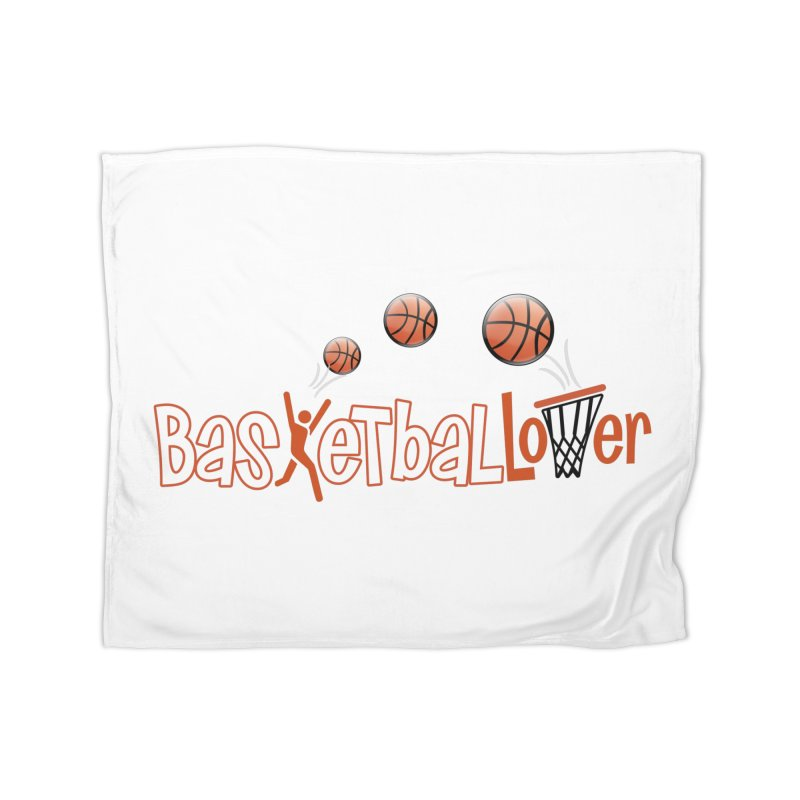Basketball Lover Home Fleece Blanket Blanket by PickaCS's Artist Shop