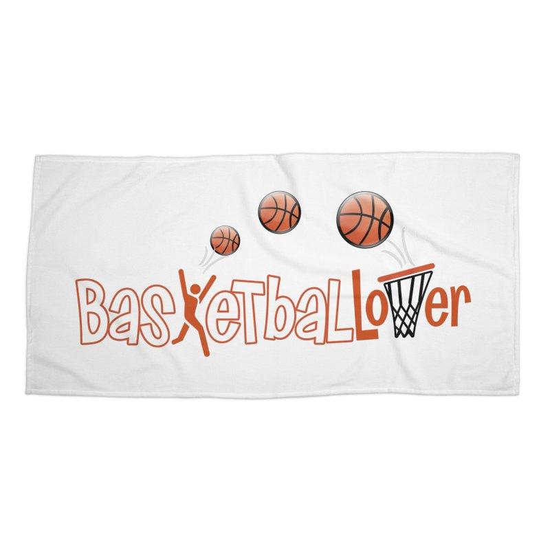 Basketball Lover Accessories Beach Towel by PickaCS's Artist Shop