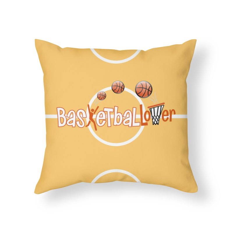 Basketball Lover Home Throw Pillow by PickaCS's Artist Shop