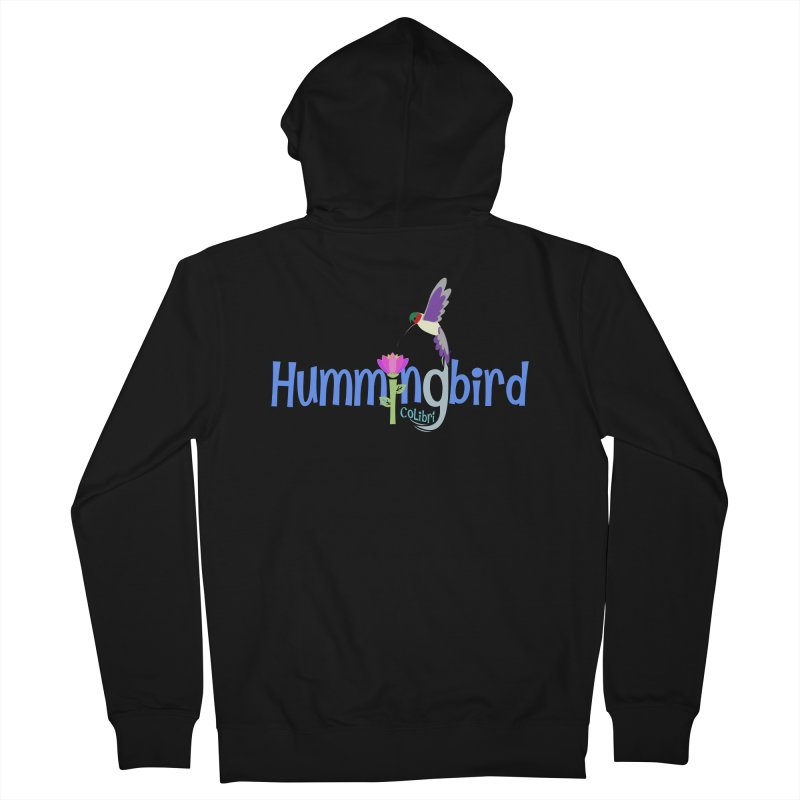 Hummingbird Women's French Terry Zip-Up Hoody by PickaCS's Artist Shop
