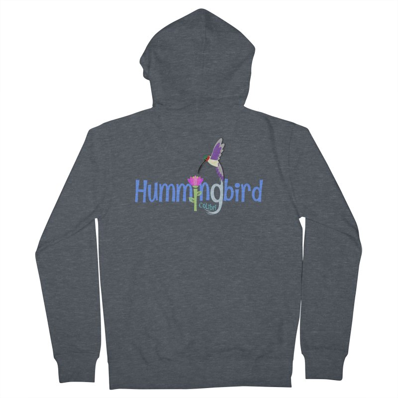 Hummingbird Men's French Terry Zip-Up Hoody by PickaCS's Artist Shop