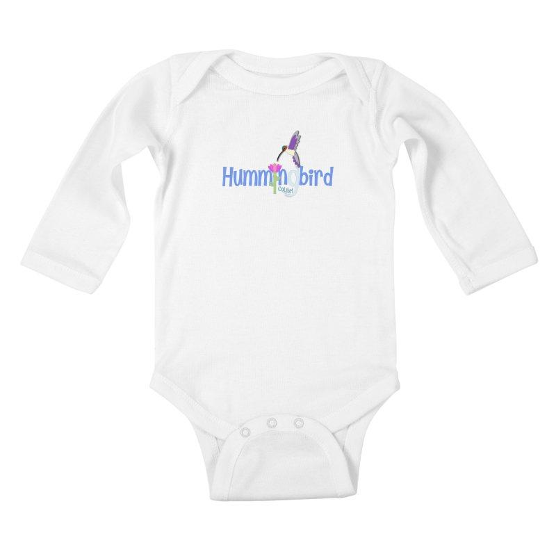 Hummingbird Kids Baby Longsleeve Bodysuit by PickaCS's Artist Shop