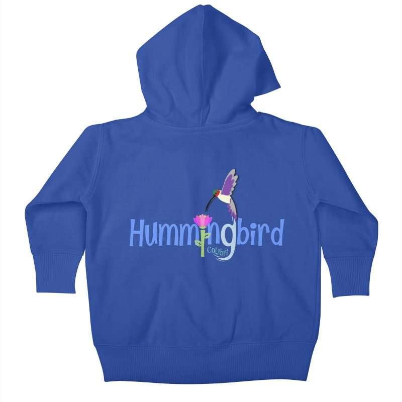 Hummingbird Kids Baby Zip-Up Hoody by PickaCS's Artist Shop