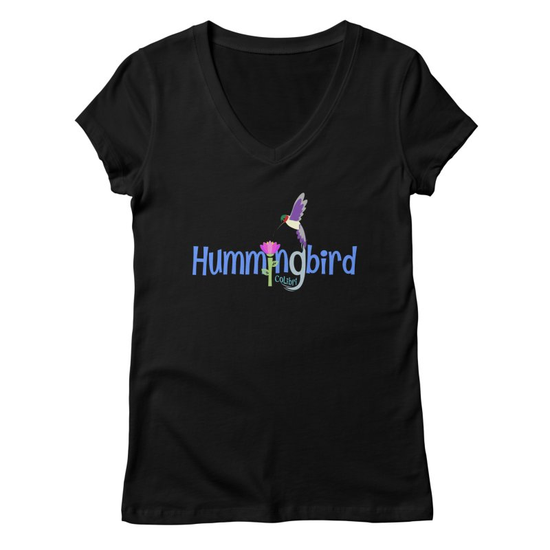 Hummingbird Women's V-Neck by PickaCS's Artist Shop