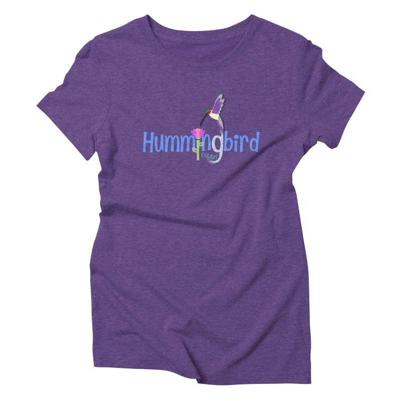 Hummingbird Women's Triblend T-Shirt by PickaCS's Artist Shop