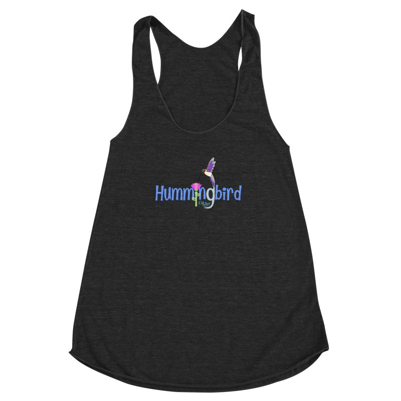 Hummingbird Women's Racerback Triblend Tank by PickaCS's Artist Shop