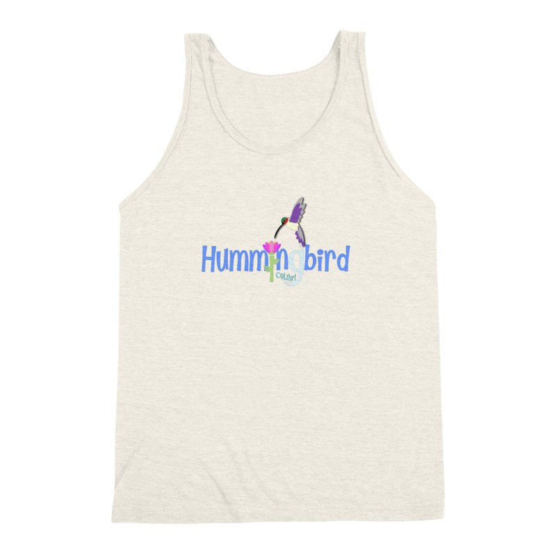 Hummingbird Men's Triblend Tank by PickaCS's Artist Shop