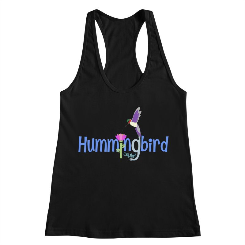 Hummingbird Women's Racerback Tank by PickaCS's Artist Shop