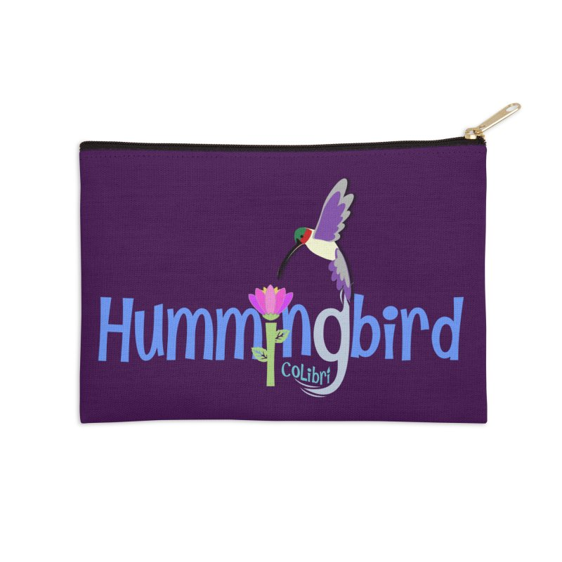 Hummingbird Accessories Zip Pouch by PickaCS's Artist Shop