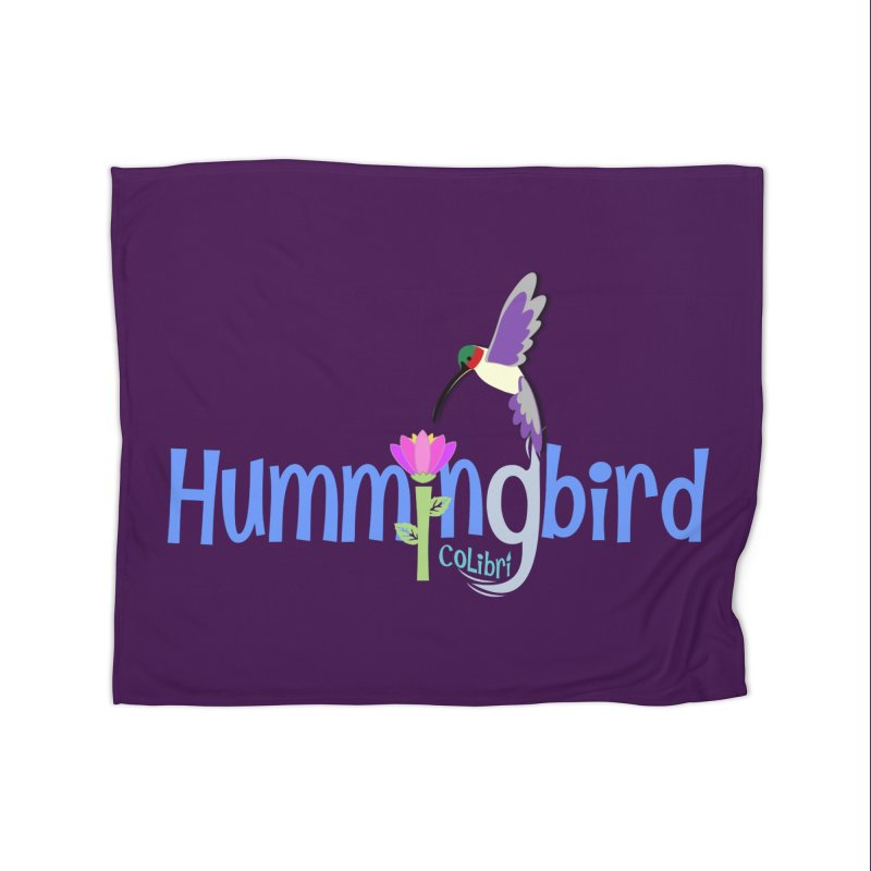 Hummingbird Home Fleece Blanket Blanket by PickaCS's Artist Shop