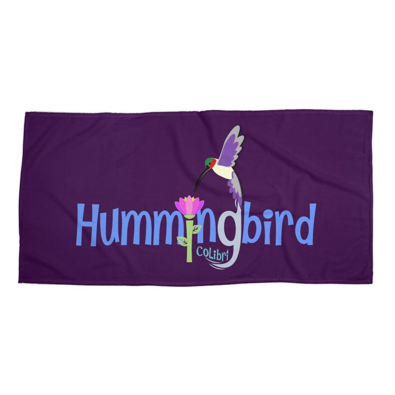 Hummingbird Accessories Beach Towel by PickaCS's Artist Shop