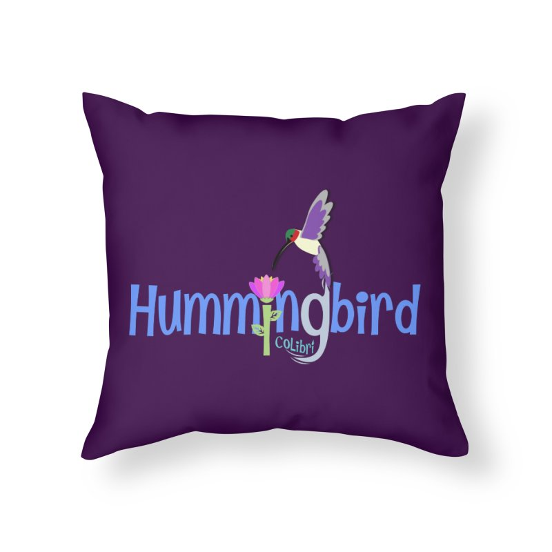Hummingbird Home Throw Pillow by PickaCS's Artist Shop