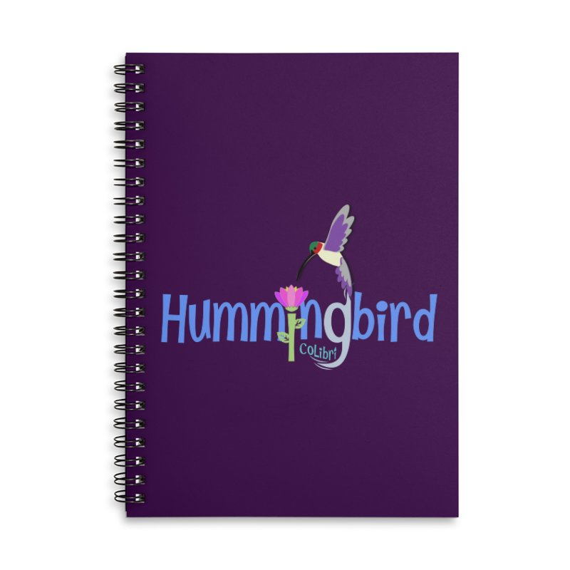 Hummingbird Accessories Lined Spiral Notebook by PickaCS's Artist Shop