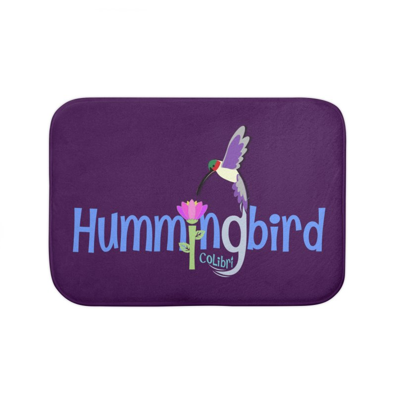 Hummingbird Home Bath Mat by PickaCS's Artist Shop