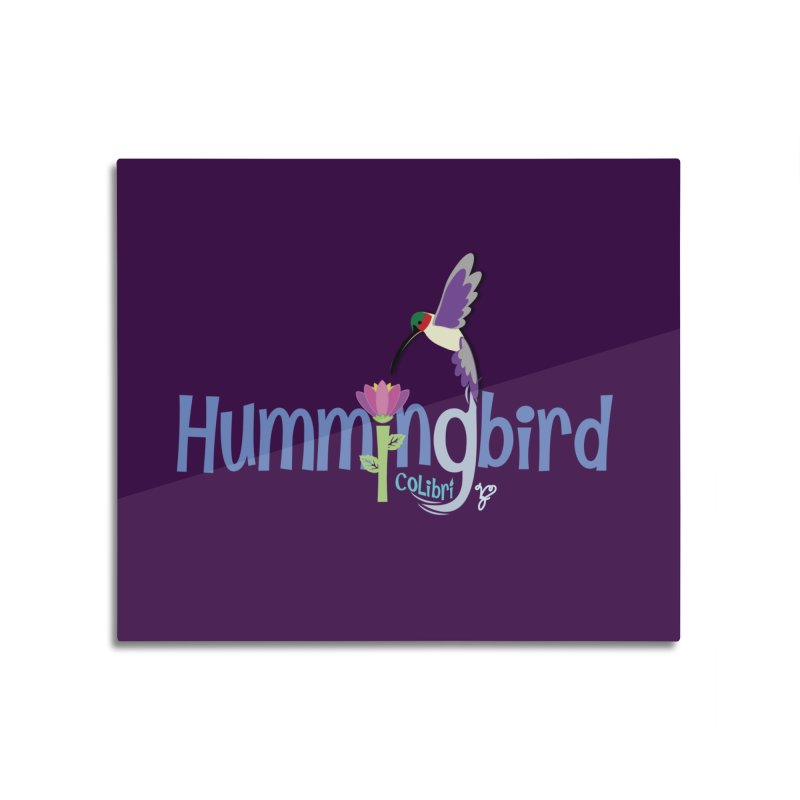 Hummingbird Home Mounted Aluminum Print by PickaCS's Artist Shop