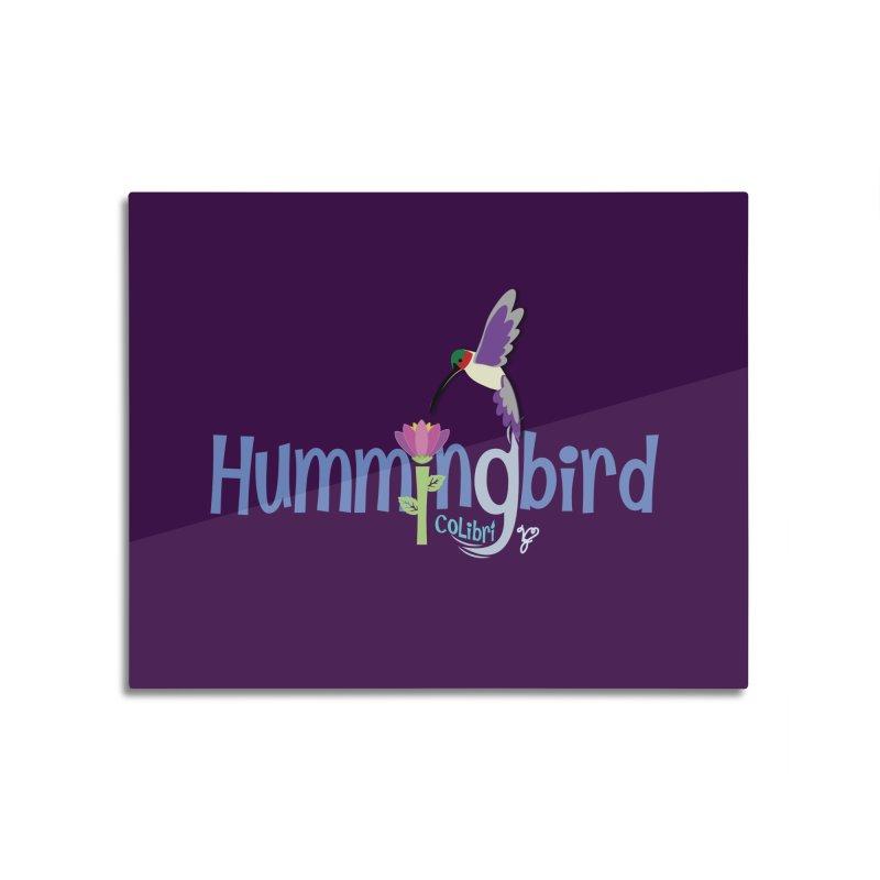 Hummingbird Home Mounted Aluminum Print by PickaCS's Artist Shop
