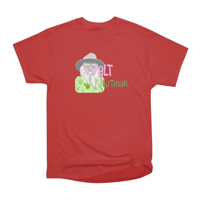 Walt Whitman Women's Heavyweight Unisex T-Shirt by PickaCS's Artist Shop