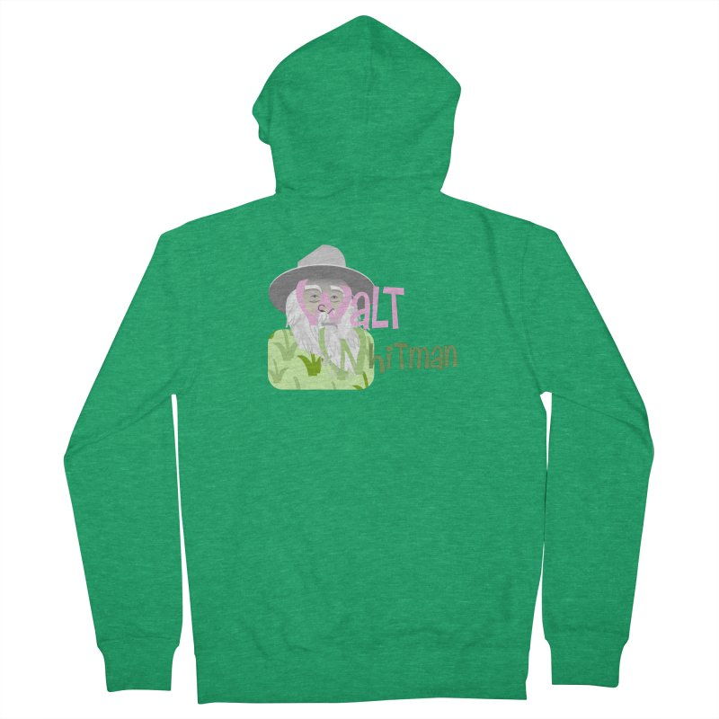 Walt Whitman Women's Zip-Up Hoody by PickaCS's Artist Shop