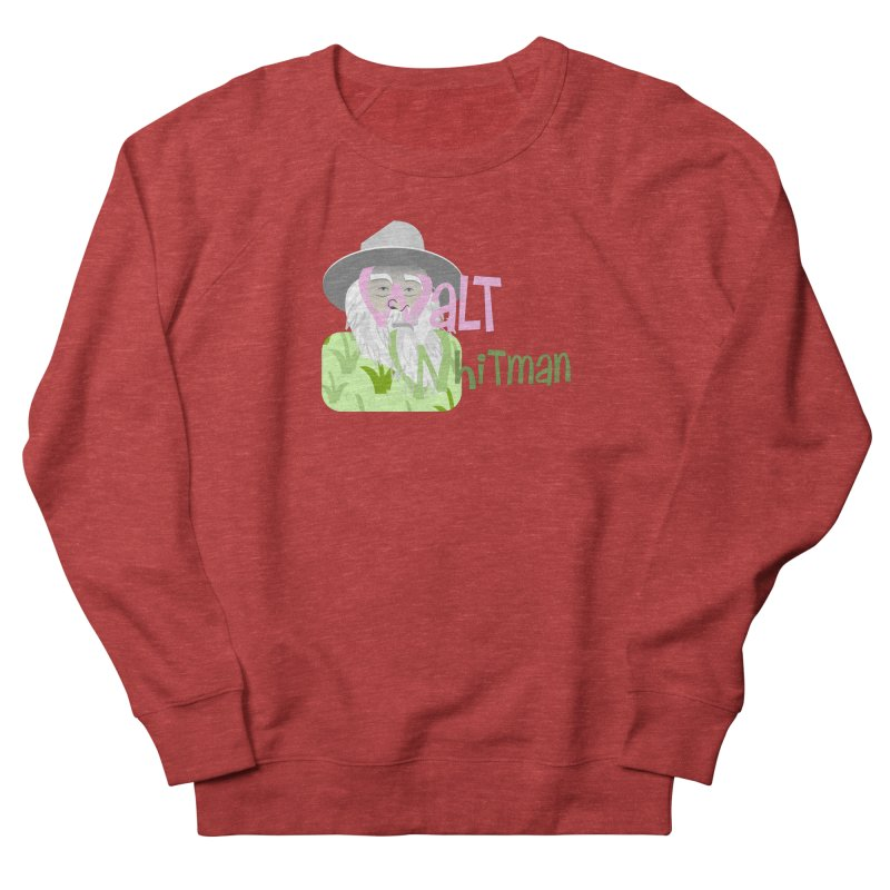 Walt Whitman Women's French Terry Sweatshirt by PickaCS's Artist Shop