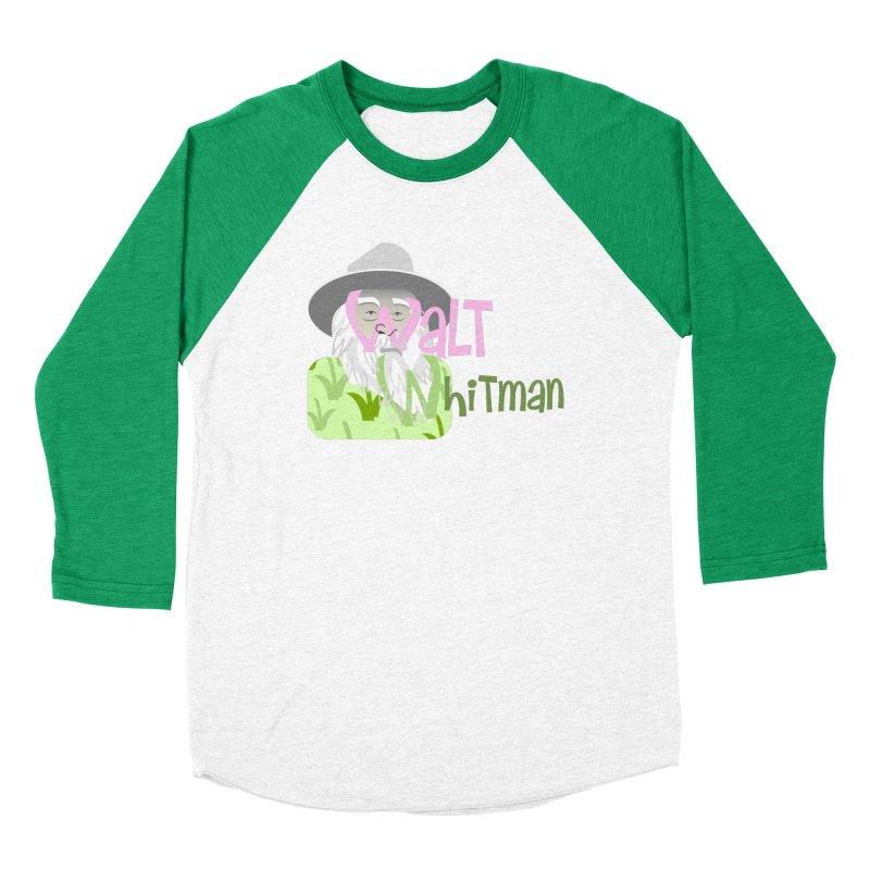 Walt Whitman Women's Baseball Triblend Longsleeve T-Shirt by PickaCS's Artist Shop