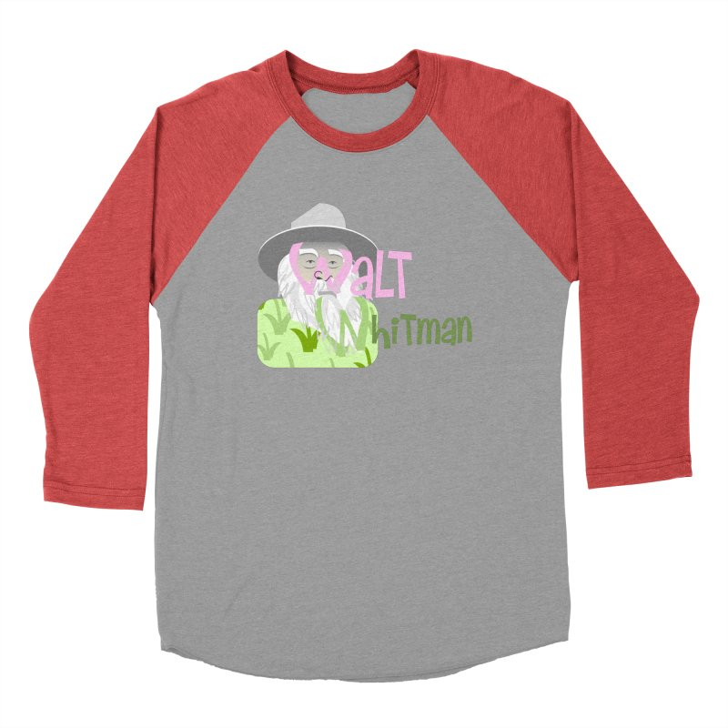 Walt Whitman Women's Baseball Triblend Longsleeve T-Shirt by PickaCS's Artist Shop