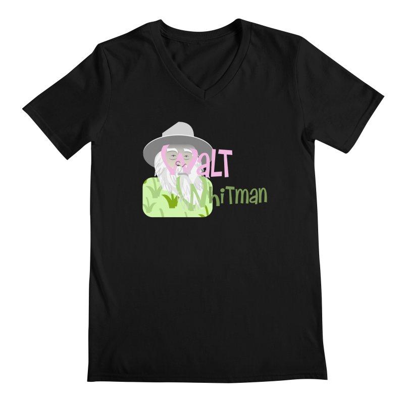 Walt Whitman Men's Regular V-Neck by PickaCS's Artist Shop