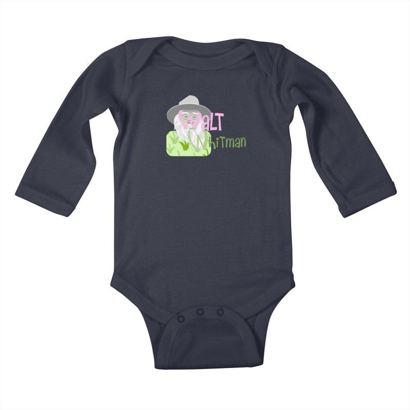 Walt Whitman Kids Baby Longsleeve Bodysuit by PickaCS's Artist Shop