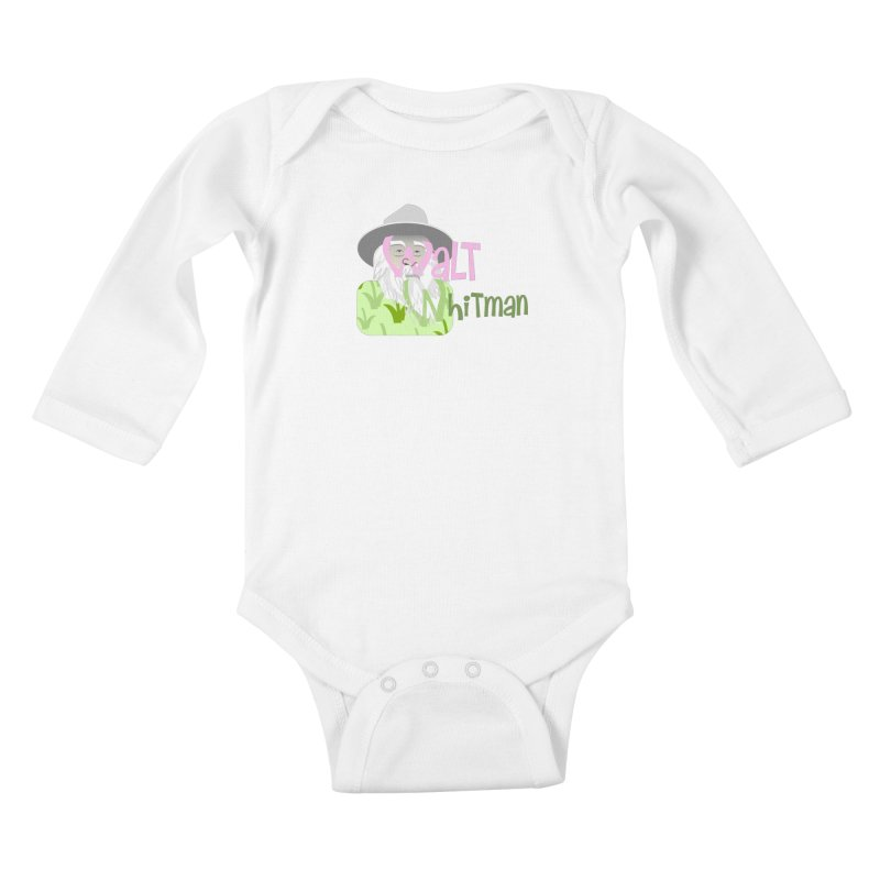 Walt Whitman Kids Baby Longsleeve Bodysuit by PickaCS's Artist Shop