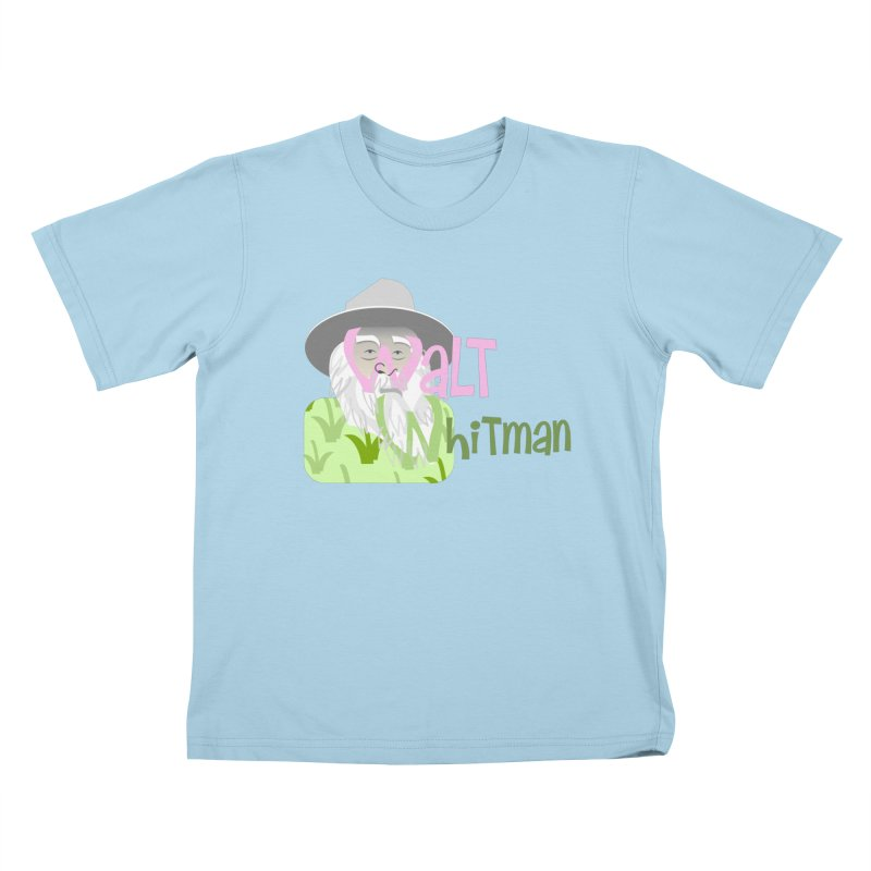 Walt Whitman Kids T-Shirt by PickaCS's Artist Shop