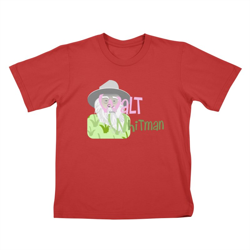 Walt Whitman Kids T-Shirt by PickaCS's Artist Shop