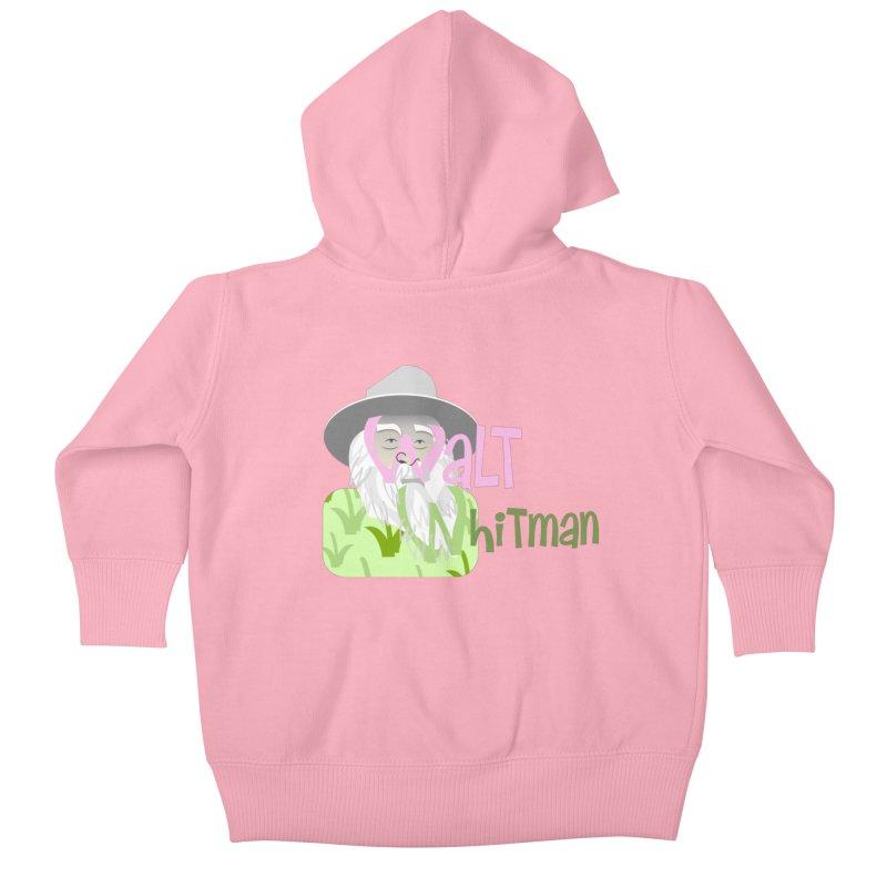 Walt Whitman Kids Baby Zip-Up Hoody by PickaCS's Artist Shop